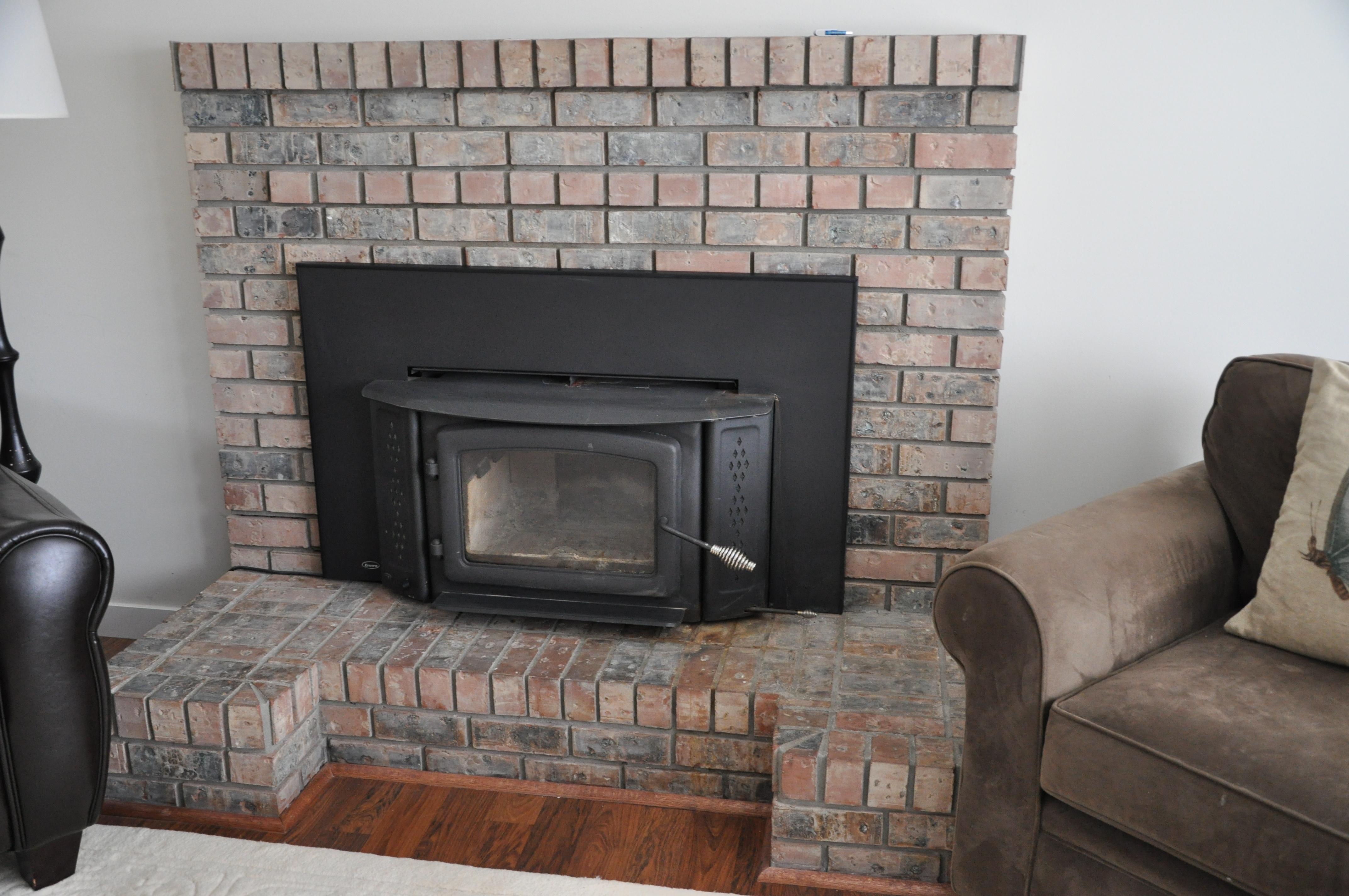 Gray Brick Fireplace Grey Painted Brick Fireplace