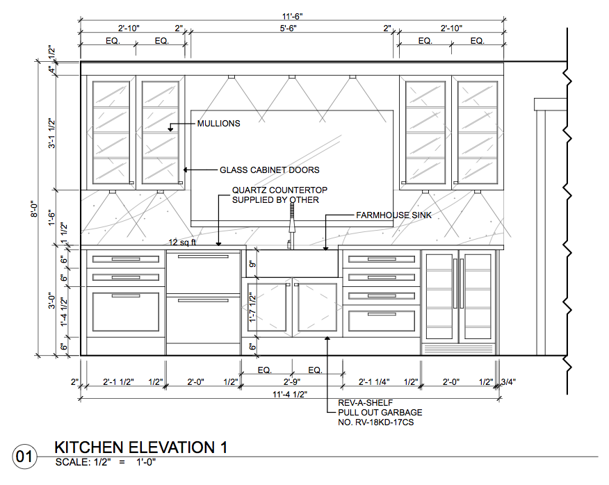 Kitchen Cabinet Elevation Drawings