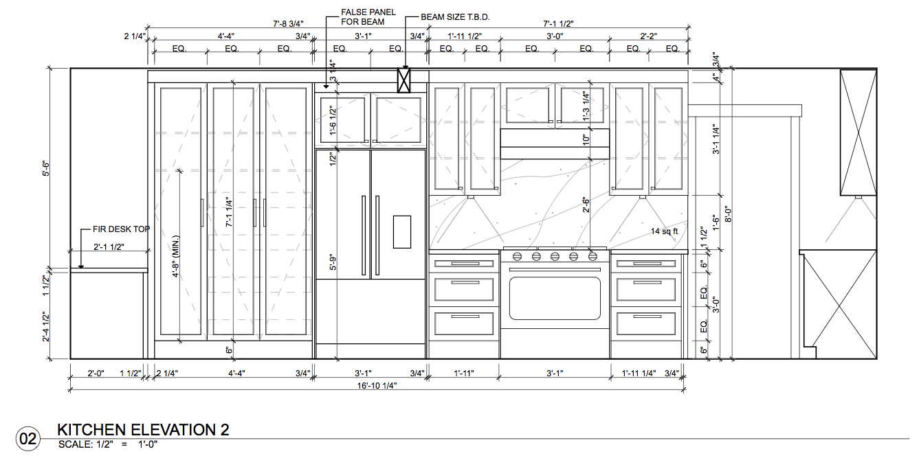 Kitchen Plan Elevation View : Kitchen elevations ccsrinteriordesign