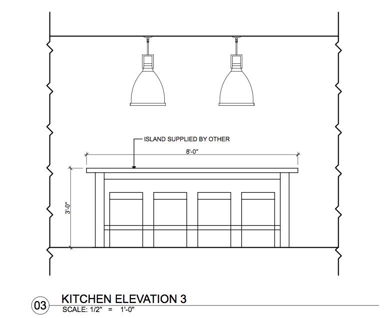 Kitchen Island Elevation kitchen drawings | ccsrinteriordesign